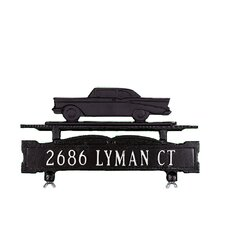 One Line Mailbox Sign with Classic Car