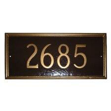 Melilla Rectangle Address Plaque