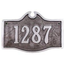 Petite Colonial Address Plaque