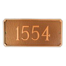 Petite Madison Address Plaque