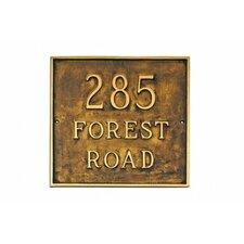 Estate Classic Square Address Plaque