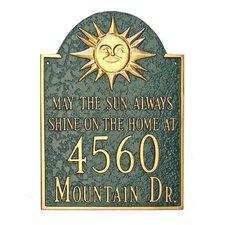 Sunshine Address Plaque