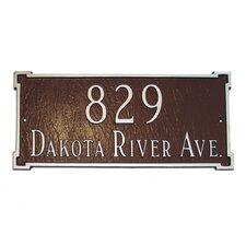 New Yorker Standard Address Plaque