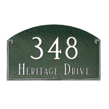 Georgetown Standard Address Plaque