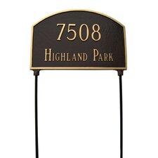 Prestige Arch Two Sided Lawn Address Plaque