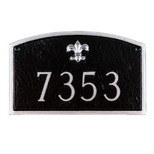 Fleur de Lis Prestige Arch Standard Address Plaque