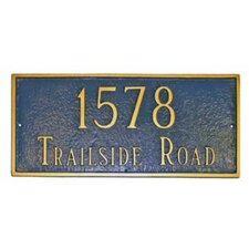 Rectangular Address Plaque