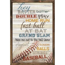 Magnet Art Print Hey Batter Batter… Framed Wall Art