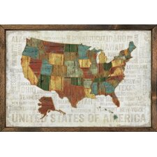 Magnet Art Print United States of America Framed Wall Art