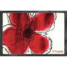 Magnet Art Print The Flower Within Red Framed Wall Art