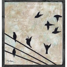 Magnet Art Print Birds on Wire Framed Wall Art