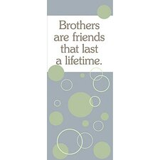 Brothers Are Friends Kids Canvas Art