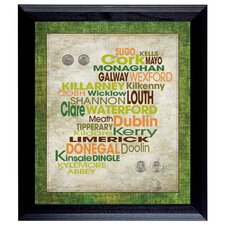 Luck Of The Irish Wall Framed Textual Art with Coins in Black