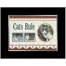 Cats Rule Picture Frame