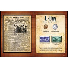 New York Times D Day Coin and Stamp Collection Wall Framed Memorabilia