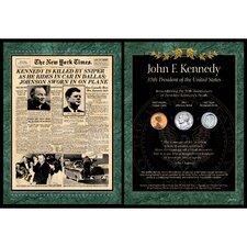 New York Times JFK Assassination Wall Framed Memorabilia