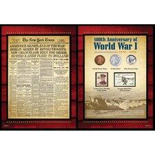 New York Times World War I Coin and Stamp Portfolio Wall Framed Memorabilia