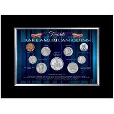 Favorite Rare American Coins Desk Framed Memorabilia