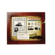 New York Times in Wood Display Case Framed Memorabilia