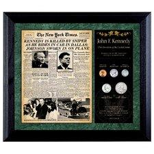 New York Times JFK Assassination Framed Memorabilia