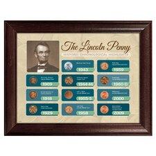 The Lincoln Penny Historical Chronological Highlight Framed Memorabilia