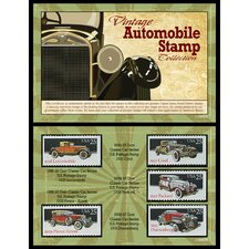 Vintage Automobile Stamp Framed Memorabilia