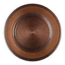 "13"" Rope Plain Glass Charger Plate"