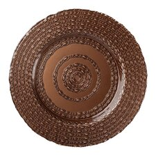 "13"" Lasso Glass Charger Plate"