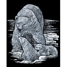 Polarbear and Cub Art Engraving (Set of 2)