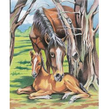 Colored Pencil By Numbers Intermediate Medium Horse and Foal Colored Pencil