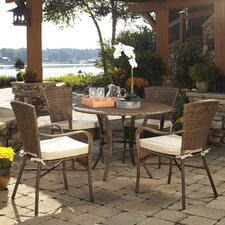 Key Biscayne 5 Piece Outdoor Dining Set with Cushions