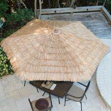 9' Tiki Thatch Crank Market Umbrella
