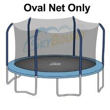 17' Oval Trampoline Net Using 6 Poles