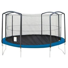 15' Trampoline Enclosure Net Using 4 Arches