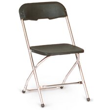 Chrome Series 5 Plastic Folding Chair (Set of 10)