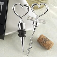 Love and Hearts 2 Pieces ''Cheers to a Great Combination'' Wine Set (Set of 10)