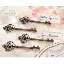 Key To My Heart Victorian Style Key Place Card Holder (Set of 24)