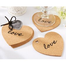 Heart Cork Coaster (Set of 64)