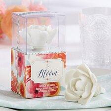 In Bloom Ceramic Flower Bottle Stopper (Set of 10)