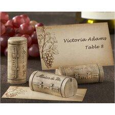 Maison du Vin Wine Cork Place Card / Photo Holder (Set of 32)