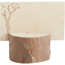 Rustic Real Wood Place Card / Photo Holder (Set of 20)