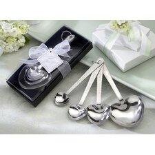 ''Love Beyond Measure'' Heart Measuring Spoons in Gift Box (Set of 10)
