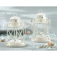 By the Sea Lighthouse Metal Tealight Holder (Set of 8)