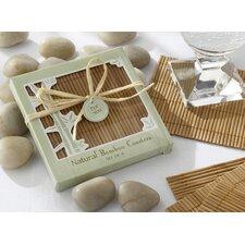 Natural Bamboo Eco-Friendly Coaster Favor (Set of 12)