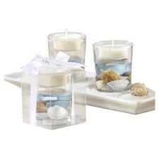 """""""Seashells"""" Seashell Tea Light Holder (Set of 10)"""