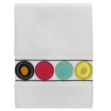 Dot Swirl Embroidered Hand Towel