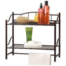 Complete Bathroom Wall Shelf with Towel Bar
