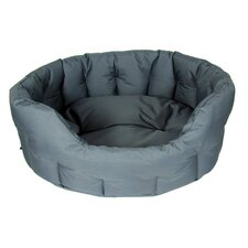 Country Dog Heavy Duty Oval Softee Bed in Grey