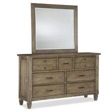 Brownstone Village 7 Drawer Dresser with Mirror