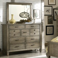 Brownstone Village 9 Drawer Dresser with Mirror